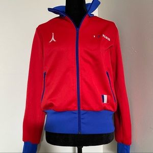 Adidas I Love Paris Red White Blue Track Jacket L